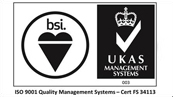 ISO 9001 Quality Management Systems – Cert FS 34113